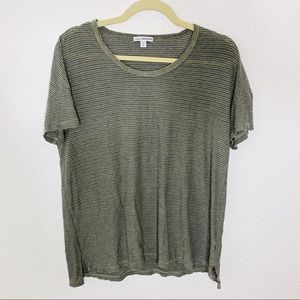James Perse Standard Striped Basic T Shirt Top 2